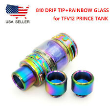810 Rainbow Drip Tip + Extend Glass Tube for TFV12 Prince Tank