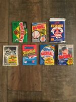 100 Card Vintage Lot 6 Unopened 1989 Baseball Packs in Box Ken Griffey Jr Rookie