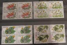 DDR Briefmarken 1978 Arzneipflanzen 4-er Blöcke Gummiert
