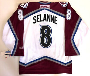 TEEMU SELANNE COLORADO AVALANCHE ORIGINAL CCM JERSEY NEW WITH TAGS