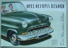 OPEL OLYMPIA REKORD Car Sales Brochure c1955? GERMAN TEXT