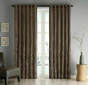 Madison Park Andora Back Tab Fabric Window 1 Single Curtain Panel Pack, 50 x 108