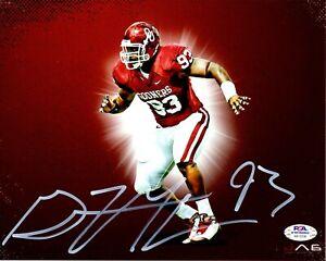 Gerald McCoy autographed signed 8x10 NCAA Oklahoma Sooners PSA COA Buccaneers