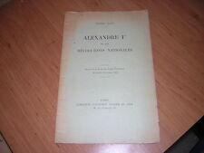 1911.Alexandre Ier & révolutions nationales.Rain.Russie