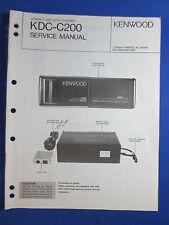 KENWOOD KDC-C200 CD CHANGER CAR AUDIO SERVICE MANUAL ORIGINAL FACTORY ISSUE