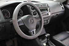 "GREY PVC Leather Steering Wheel Cover Corolla Camry Tacoma 14-15"" 38cm Non-Slip"