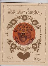 Vintage 1978 Jo Sonja Jansen Tole Painting Book Folk Art Sampler - Vol. 1