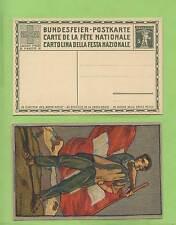 Switzerland 1912 Flag Waver unused National Festival postcard