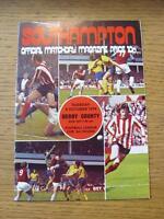 08/10/1974 Southampton v Derby County [Football League Cup]