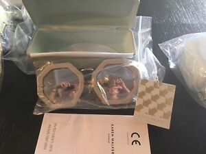 BNIB Karen Walker Moon Disco Sunglasses Grey Mirror Silver Octagonal Designer