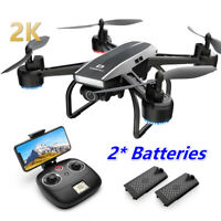 2K Holy Stone D50 2.4G FPV Drone with HD Video Camera RC Quadcopter 2 batteries