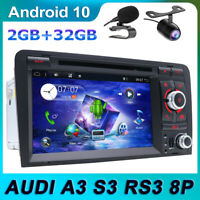 Android 10.0 Autoradio for Audi A3 S3 RS3 RNSE-PU GPS NAVI DVD BT-5.0 4G DAB+
