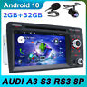 Android 10.0 Autoradio for Audi A3 S3 RS3 RNSE-PU GPS NAVI DVD BT-5.0 4G DAB+