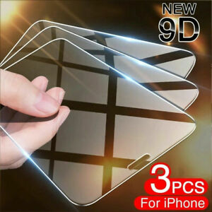 New For iPhone 13 12 11 Pro Max XR X XS Max Tempered GLASS Screen Protector