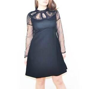 Vestito estivo new look abito nero con pizzo trasparente