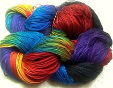 Fingering yarn hand dyed bamboo cotton 495 yds kadinski shawls knitting