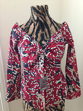 Women's Red White Blue Top Off Shoulder Lady Enyce NWT size XL