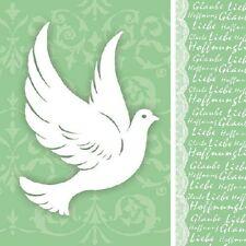 Papierservietten - Servietten Glaube Taube Grün Kommunion und Konfirmation