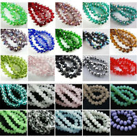 25pcs 10mm Rondelle Faceted Cut Crystal Glass #5040 Loose Spacer Beads 83 Colors