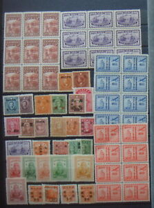 China MNH/MH mint collection 4 pages incl. blocks unchecked around 300 stamps
