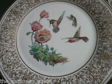 "Edward Marshall Boehm bird plate ""Rufous Hummingbird"" by Lenox, Nib, no certs"