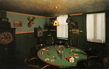 1890 Game Room Western Hotel Museum Ouray, Colorado Poker Table Postcard c1950s