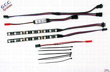2x 150 mm Impermeable Multi Color RGB LED de iluminación bajo RC Coche Trasero Kit E-Revo