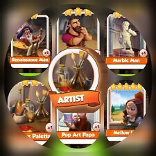 6 Cards from ArTist Set ### Coin Master Cards (Fastest Delivery)