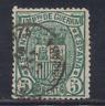 ESPAÑA (1875) USADO SPAIN - EDIFIL 154 (5 cts) ESCUDO DE ESPAÑA - LOTE 3