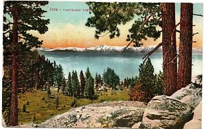 Panoramic View Lake Tahoe Glenbrook Nevada Vintage Postcard Brookway CA 1915