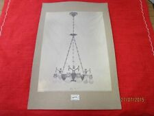 Bildtafel - altes Foto auf Pappe - sehr seltene Lampe - wohl um 1900   /S54