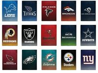 "NEW NFL Officially Licensed Faded Glory Fleece Throw Blanket 60"" X 80"" Northwest"