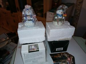 Roman Galleria Lucchese Snowmen Around the World Lot American German New in Box