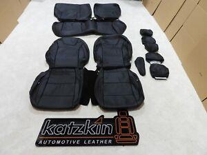 Leather Seat Covers Fits Nissan Kicks S SV SR Black 2018 2019 FW47