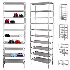 Étagères à chaussures armoire placard 10 niveaux meuble rangement chaussure