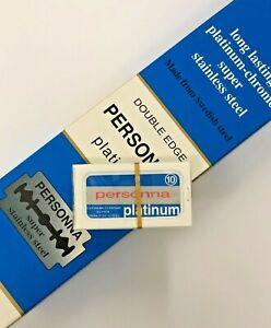 PERSONNA Platinum Chrome Stainless Double Edge Razor Blade Safety DE 10 to 1000