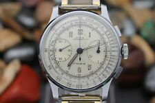 Vintage OLMA Anitmagnetic Military Chronograph Stainless Steel Men's Watch