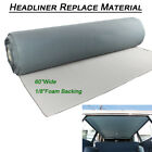 For 1993-2010 Jeep Grand Cherokee Gray Car Headliner Fabric Material Foam Backed