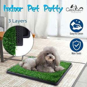 Dog Pet Toilet Portable Training Potty Grass Mat Puppy Large Loo Pad Indoor