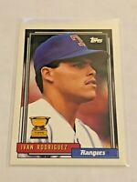 1992 Topps Baseball Base Card - Ivan Rodriguez - Texas Rangers