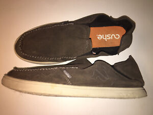Cushe Evo Lite Suede Loafers Shoes Gray Mens 12 Slip On UM00729 casual beach