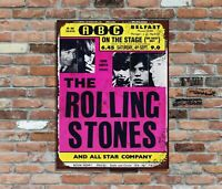 Rolling Stones ABC Belfast Retro Metal Poster Wall Sign