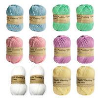 5x Baby Yarn 100g 8 Ply Acrylic Knitting Yarn Solid Colours Super Soft Yarn