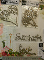 CHIPBOARD DieCut HEART, Tree, SWEETHEART, Hugs & Kisses 4Style Choice Scrap FX L