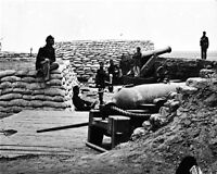 New 8x10 Civil War Photo: Soldiers in Confederate Battery South of Yorktown