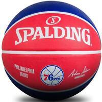 NBA Philadelphia 76ers Basketball Size 7 Outdoor Ball Spalding