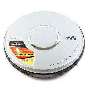 Sony Walkman Portable CD Player D-EJ001 G-Protection CD-R/RW Silver Tested