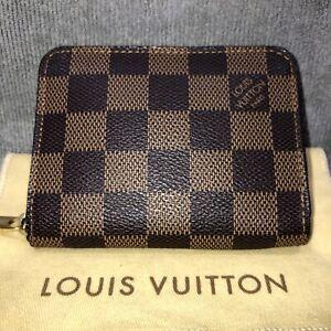 Authentic Louis Vuitton LV Damier Ebene Zippy Coin Purse SN2151
