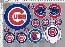 1set chicago cubs bear baseball decal sticker print self die-cut vinyl