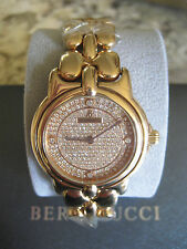 NEW BERTOLUCCI 36MM PULCHRA 18KT GOLD 161GR DIAMOND WATCH RETAIL $33K